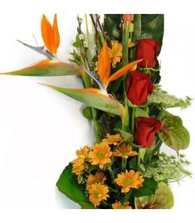 Ramo vertical sterlitzias y rosas