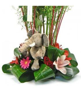 Composiciço amb estructura & elefant