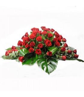 Cojín rosas rojas