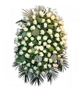 Corona roses blanques