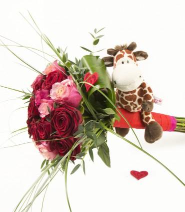 18 roses & Girafa