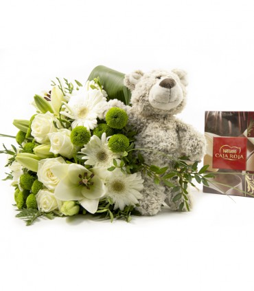 Pack Bouquet Blanco & Oso