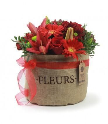 Saquito de Flores Rojas
