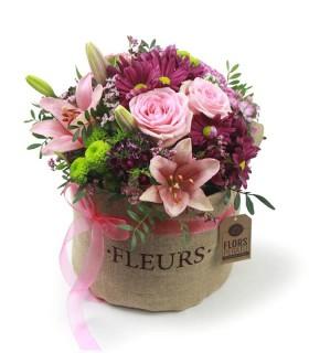 Saquet de flors Rosades