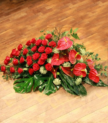 Coixí Selecte roses vermelles